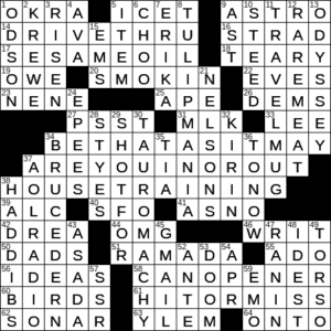 La Times Crossword 1 Aug 20 Saturday Laxcrossword Com