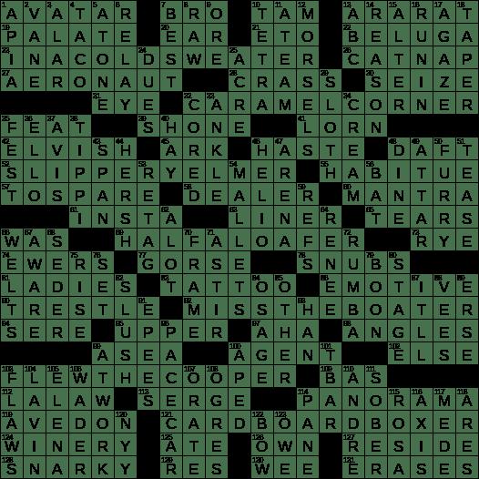 La Times Crossword 12 Jul 20 Sunday Laxcrossword Com