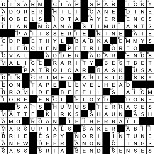 La Times Crossword 26 Jul 20 Sunday Laxcrossword Com