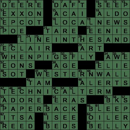 La Times Crossword 28 Jul 20 Tuesday Laxcrossword Com