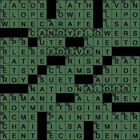 La Times Crossword 15 Jul 20 Wednesday Laxcrossword Com