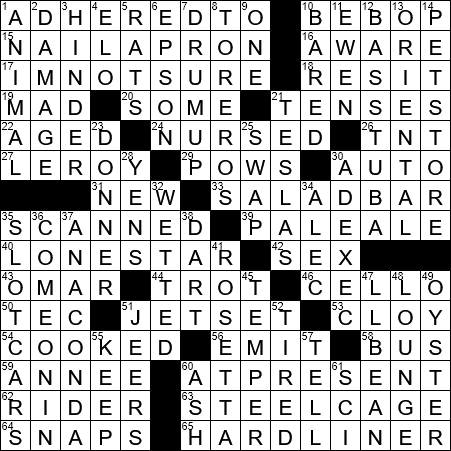 La Times Crossword 29 Aug 20 Saturday Laxcrossword Com