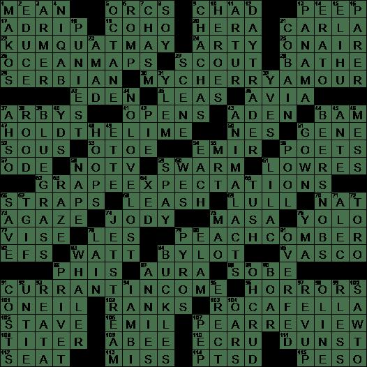 La Times Crossword 23 Aug 20 Sunday Laxcrossword Com