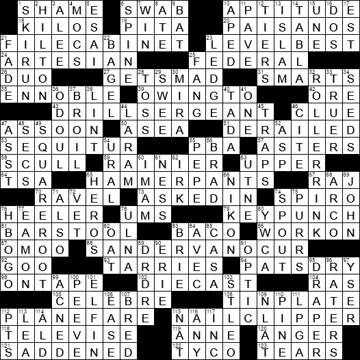La Times Crossword 6 Sep 20 Sunday Laxcrossword Com
