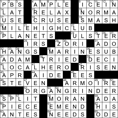 La Times Crossword 27 Aug 20 Thursday Laxcrossword Com