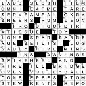 Give Kudos To Crossword Clue Archives Laxcrossword Com