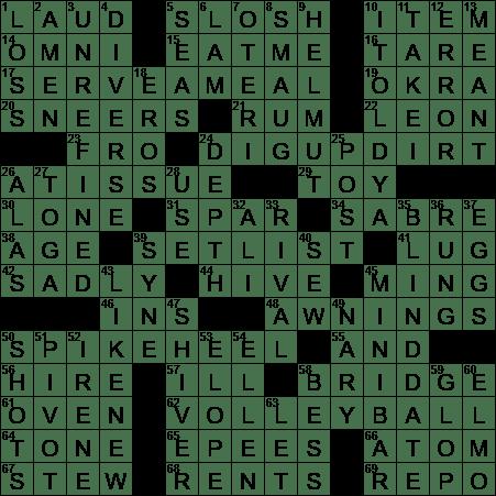 La Times Crossword 18 Aug 20 Tuesday Laxcrossword Com