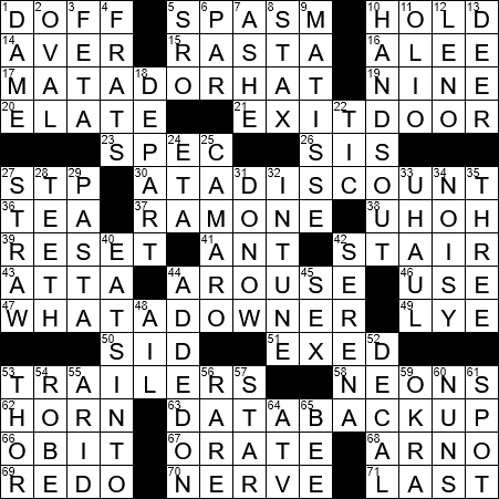 La Times Crossword 1 Sep 20 Tuesday Laxcrossword Com