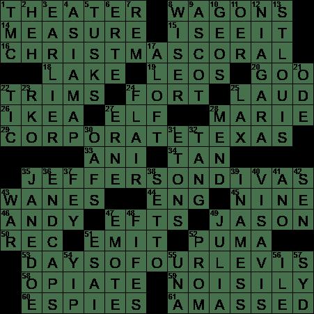 La Times Crossword 11 Sep 20 Friday Laxcrossword Com