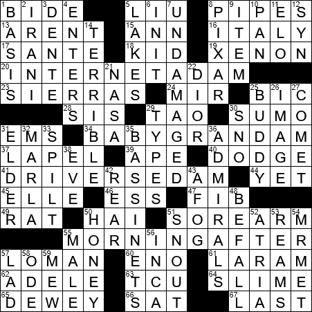 La Times Crossword 18 Sep 20 Friday Laxcrossword Com