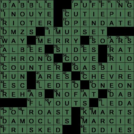 La Times Crossword 12 Sep 20 Saturday Laxcrossword Com
