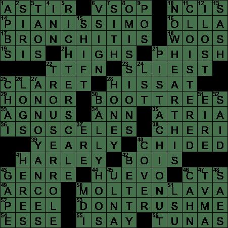 La Times Crossword 19 Sep 20 Saturday Laxcrossword Com