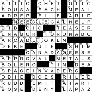 La Times Crossword 22 Sep 20 Tuesday Laxcrossword Com