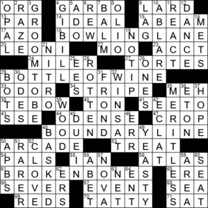 Off To The Side At Sea Crossword Clue Archives Laxcrossword Com