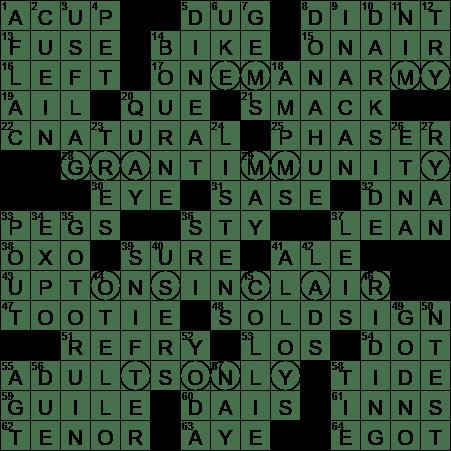 La Times Crossword 16 Sep 20 Wednesday Laxcrossword Com