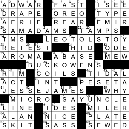 La Times Crossword 30 Sep 20 Wednesday Laxcrossword Com