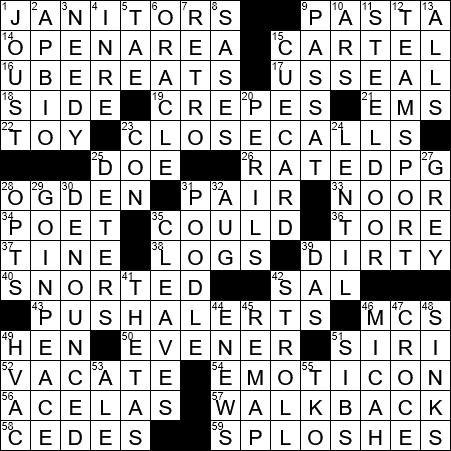 La Times Crossword 17 Oct 20 Saturday Laxcrossword Com