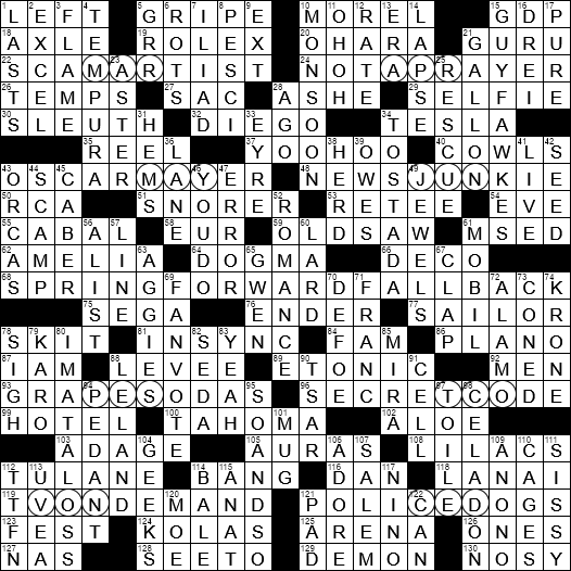 La Times Crossword 1 Nov 20 Sunday Laxcrossword Com