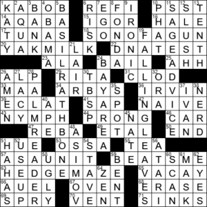 Time Off Informally Crossword Clue Archives Laxcrossword Com
