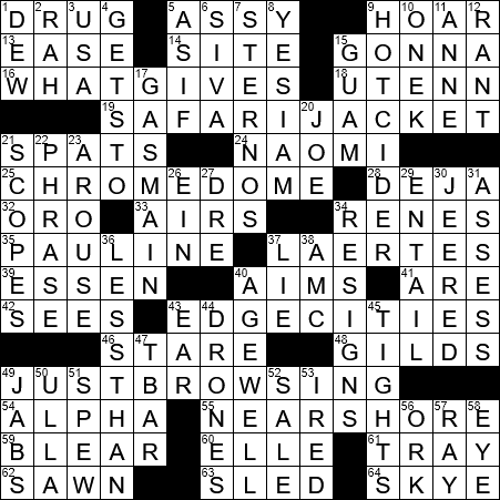 La Times Crossword 14 Oct 20 Wednesday Laxcrossword Com