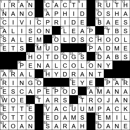 La Times Crossword 6 Nov 20 Friday Laxcrossword Com