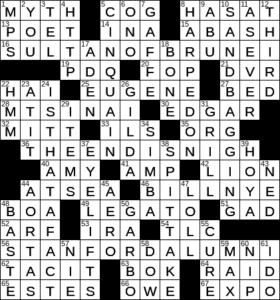 La Times Crossword 2 Dec 20 Wednesday Laxcrossword Com