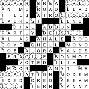 La Times Crossword 25 Nov 20 Wednesday Laxcrossword Com