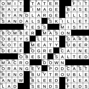 Downloadable Talk Show Crossword Clue Archives Laxcrossword Com