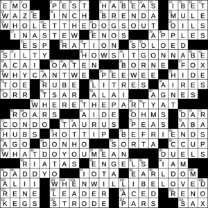 La Times Crossword 20 Dec 20 Sunday Laxcrossword Com