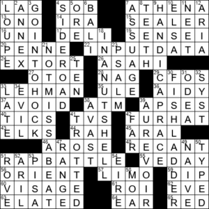 La Times Crossword 24 Dec 20 Thursday Laxcrossword Com