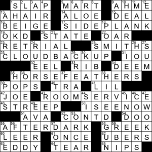 La Times Crossword 9 Dec 20 Wednesday Laxcrossword Com